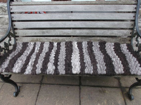 Terrific 48 Inch Peg Loom Garden Bench Seat Pad Pure Welsh Wool Evergreenethics Interior Chair Design Evergreenethicsorg