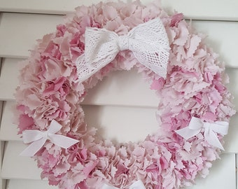 Crown shabby wall decor, pink tones - OOAK