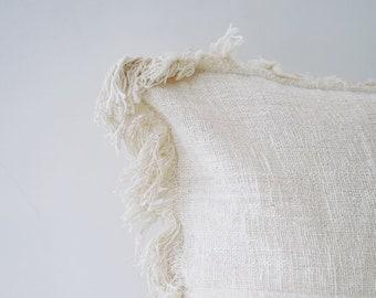 PILLOW COVER, Natural White Pillow Cover, Cotton Pillow Cover, Boho Home Decor, 20 x 20 (50x50cm)