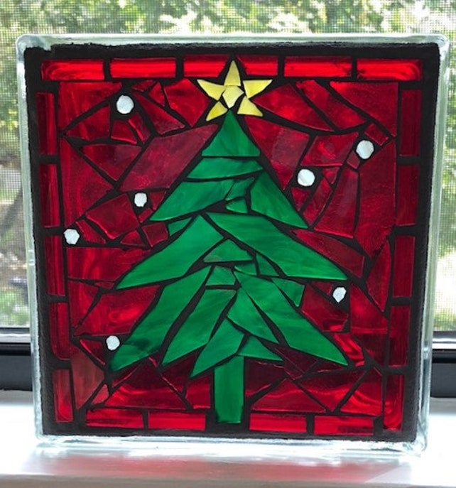 image 0 - Glass Block Christmas Decorations