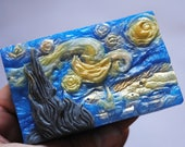 Handmade inspired 'Starry Night' parody Soap - Vincent van Gogh, Christmas gift, stocking gift, Novelty, Parody-version2