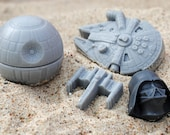 Star Wars set 2 : Death Star, Falcon, X-Wing & Darth Vader - Made from a Star Wars mould