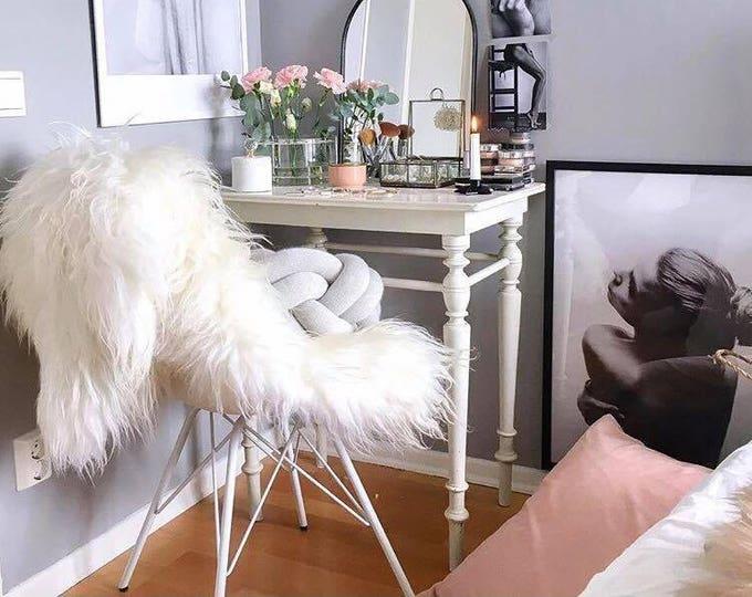 Creamy White Real Icelandic Sheepskin rug