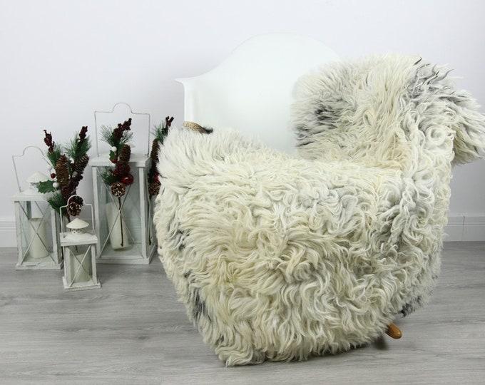 Organic Sheepskin Rug, Real Sheepskin Rug, Curly Sheepskin, Gray Beige Sheepskin Rug Christmas Home #CURLGUT8