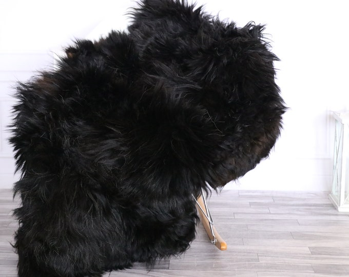 Icelandic Sheepskin | Real Sheepskin Rug | CHRISTMAS DECOR | Sheepskin Rug Black Brown | Fur Rug | Homedecor #LISISL19