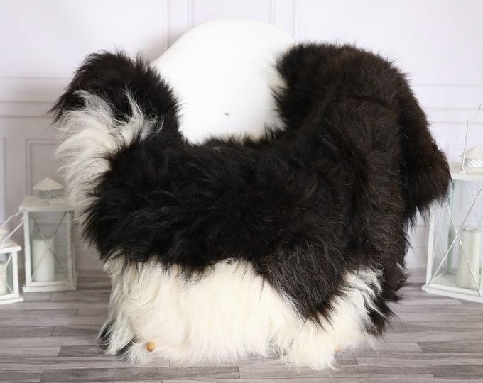 Icelandic Sheepskin | Real Sheepskin Rug |  Super Large Sheepskin Rug Black White | Fur Rug | Homedecor #MIHISL23
