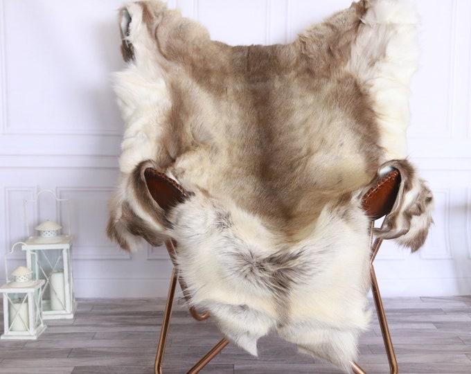 Reindeer Hide | Reindeer Rug | Reindeer Skin | Throw XXL EXTRA LARGE - Scandinavian Style #FRE12