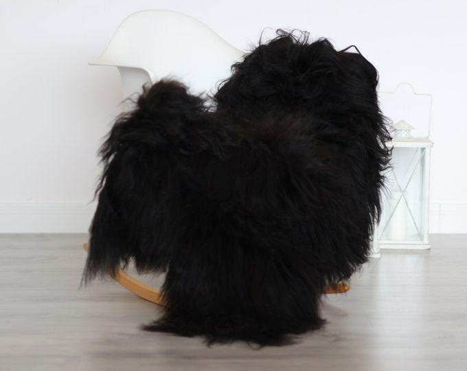Real Icelandic Sheepskin Rug Scandinavian Decor Sofa Sheepskin throw Chair Cover Natural Sheep Skin Rugs Black Blanket Fur Rug #4isl18