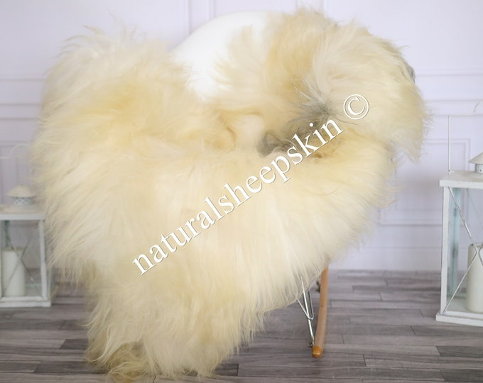 Icelandic Sheepskin | Real Sheepskin Rug | Sheepskin Rug Ivory Gray | Fur Rug | Homedecor #MAYISL20