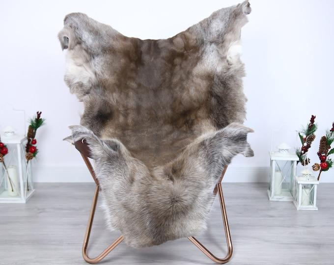 Reindeer Hide | Reindeer Rug | Reindeer Skin | Throw  - Scandinavian Style #ERE16 140x110 | Christmas Decor |