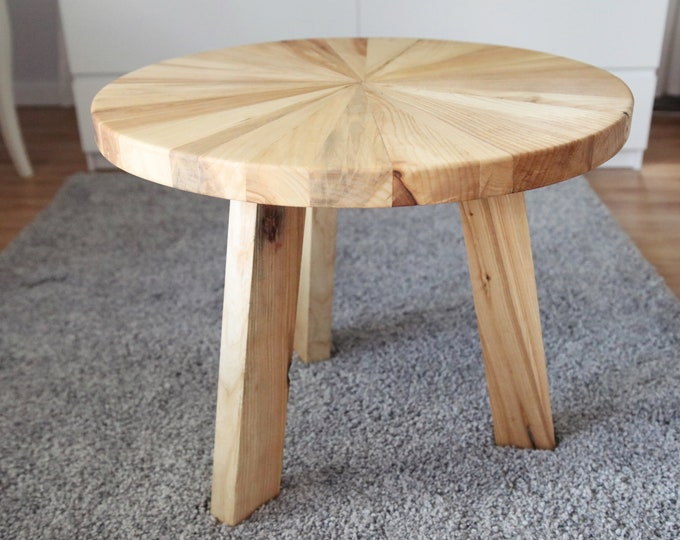 Ash Wood Round Coffee Table