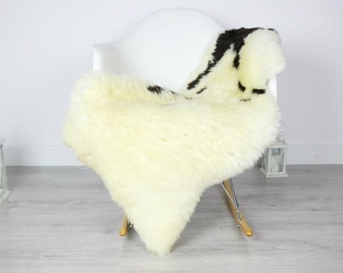 Sheepskin Rug | Real Sheepskin Rug | Shaggy Rug | Scandinavian Rug | Sheepskin Throw Beige Black Sheepskin | SCANDINAVIAN DECOR | #3HER10