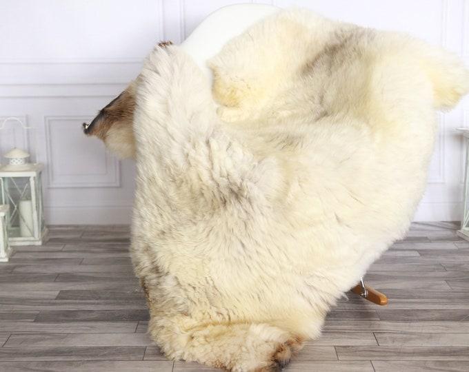 Sheepskin Rug | Real Sheepskin Rug | Shaggy Rug | Sheepskin Throw | Sheepskin Rug Brown Beige | Chirtmas Home Decor | #1HER24