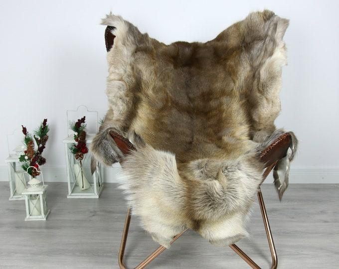 Reindeer Hide | Reindeer Rug | Reindeer Skin | Throw  - Scandinavian Style #GRE14 140x110 | Christmas Decor |