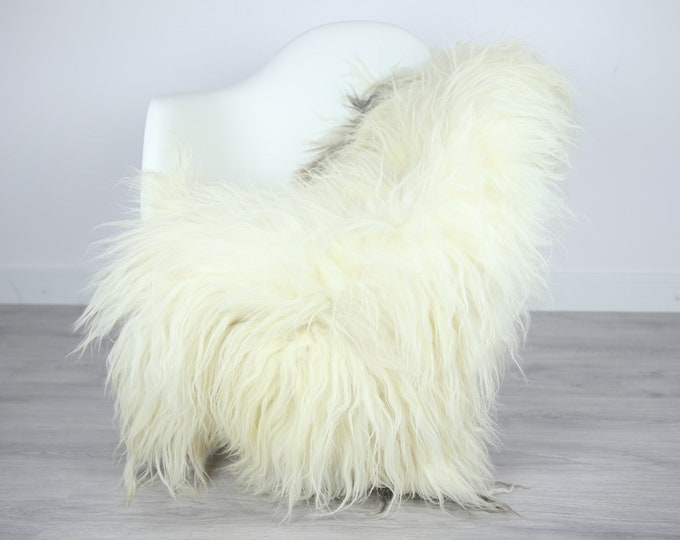 Icelandic Sheepskin | Real Sheepskin Rug | | Large Sheepskin Rug Ivory | Fur Rug | Homedecor | Sheepskin Throw | Long fur #colisl31
