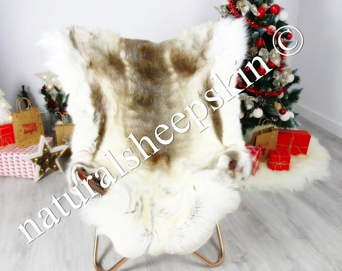Reindeer Hide | Reindeer Rug | Reindeer Skin | Throw  - Scandinavian Style #DRE5 140X110