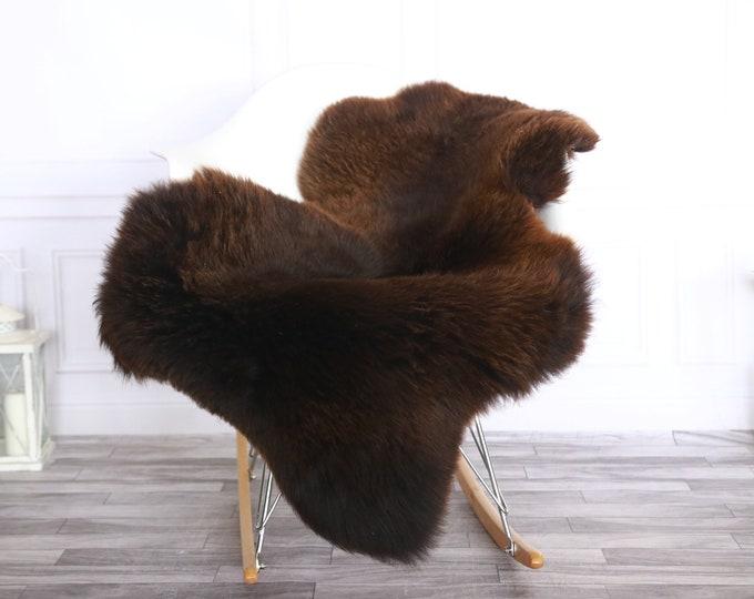 Sheepskin Rug | Real Sheepskin Rug | Shaggy Rug | Sheepskin Throw | Sheepskin Rug Brown | Chirtmas Home Decor | #1HER29