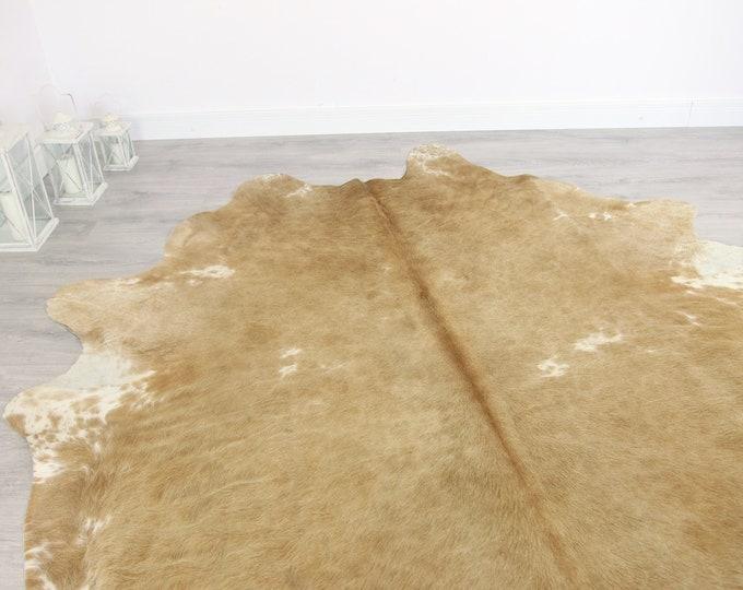 Premium Quality Giant XXXL Cowhide | Real Cowhide Rug | Sand Cowhide | #COW9