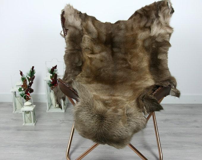 Reindeer Hide | Reindeer Rug | Reindeer Skin | Throw  - Scandinavian Style #GRE9 135x100 | Christmas Decor |