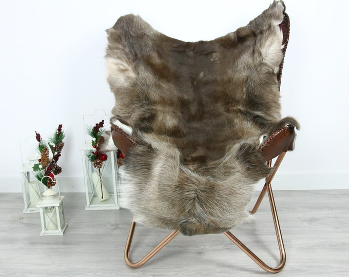 Reindeer Hide | Reindeer Rug | Reindeer Skin | Throw  - Scandinavian Style #GRE21 135x100 | Christmas Decor |