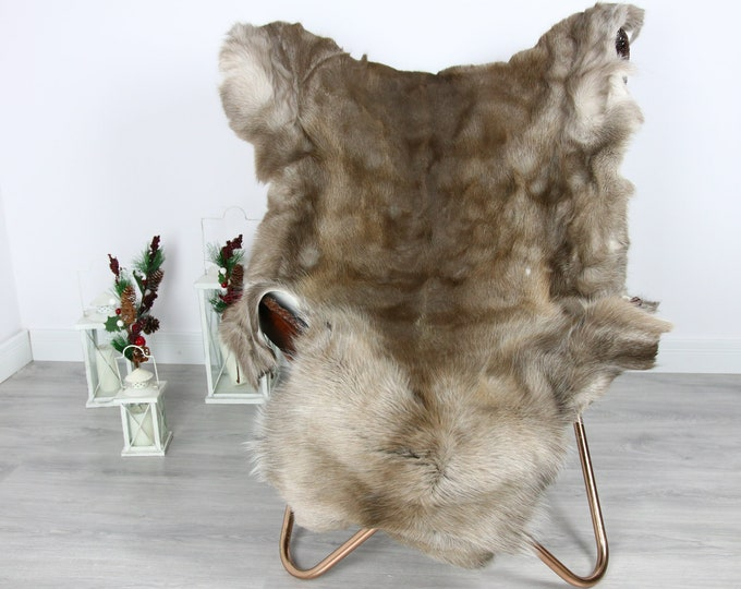 Reindeer Hide | Reindeer Rug | Reindeer Skin | Throw  - Scandinavian Style #GRE17 145x110 | Christmas Decor |