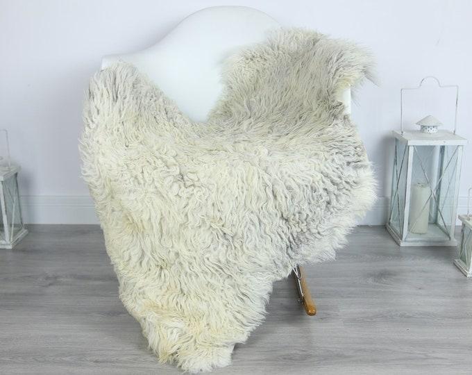 Organic Curly Sheepskin Rug, Real Sheepskin Rug, Gute Sheepskin, Gray Baige Sheepskin Rug #GOTKW5