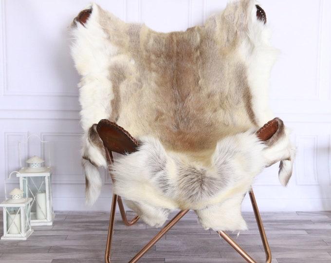 Reindeer Hide | Reindeer Rug | Reindeer Skin | Throw XXL EXTRA LARGE - Scandinavian Style #FRE9