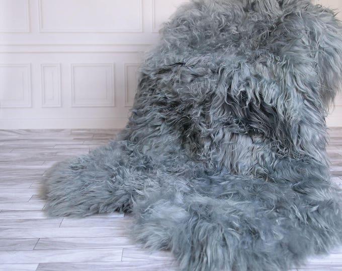 Icelandic Sheepskin Throw   Gray Throw   Gray Sheepskin Rug   Square Sheepskin Rug   Quatro Sheepskin Rug   190 x 120 sheepskin