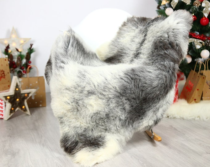 Organic Sheepskin Rug, Real Sheepskin Rug, Gute Sheepskin, Gray Brown Sheepskin Rug Christmas Home #GUTCHRIS11