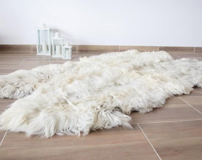 Sheepskin Throw | Ivory Throw | Ivory Sheepskin Rug | Quatro Sheepskin Rug |  Large sheepskin rug