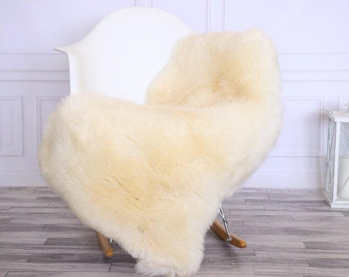 Sheepskin Rug | Real Sheepskin Rug | Shaggy Rug | Chair Cover | Sheepskin Throw | Ivory | CHRISTMAS DECOR | #LISHER16