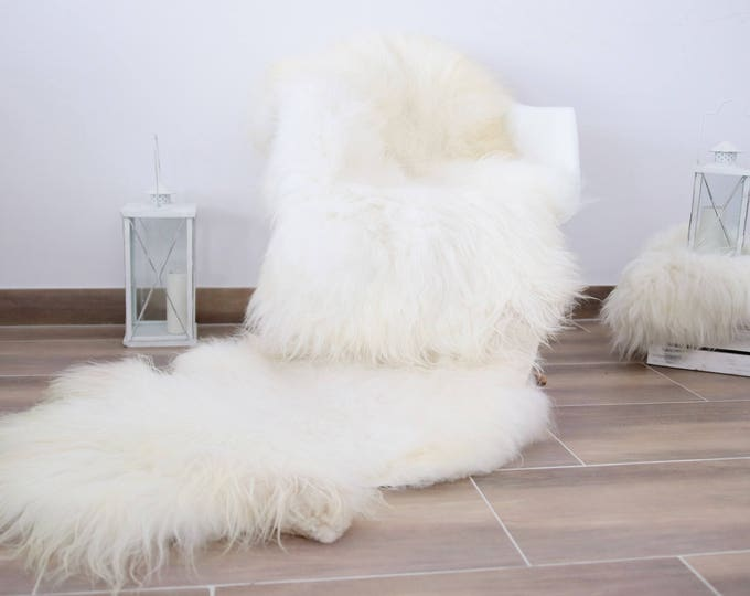 Genuine Double Sheepskin Rug Creamy Ivory Large Sheepskin Rug Home Decor Icelandic Sheepskin