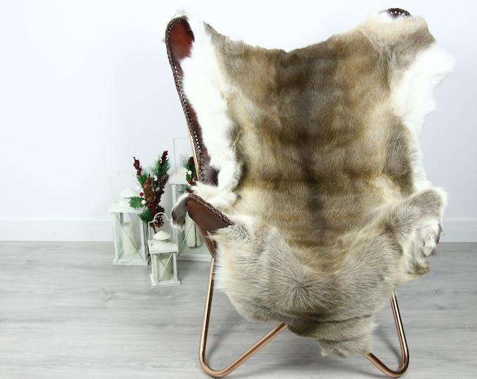 Reindeer Hide | Reindeer Rug | Reindeer Skin | Throw  - Scandinavian Style #GRE4 140x110 | Christmas Decor |