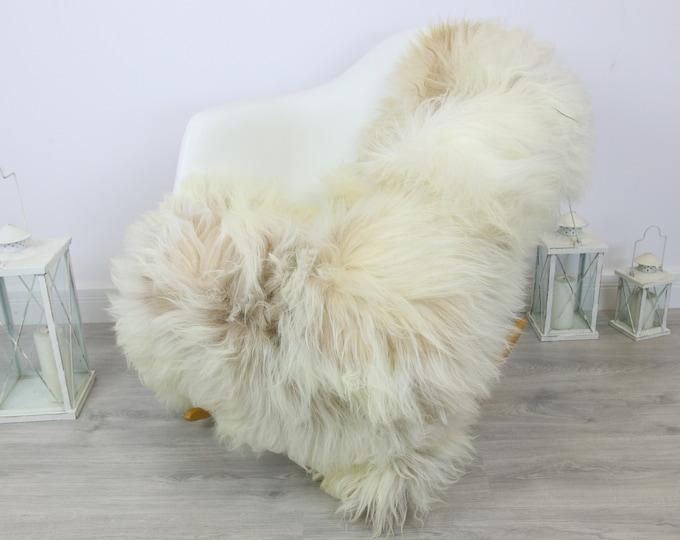 Ivory White Real Icelandic Sheepskin Rug Home Decor