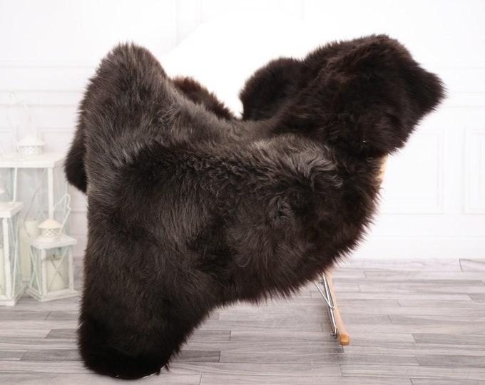 Sheepskin Rug | Real Sheepskin Rug | Shaggy Rug | Chair Cover | Sheepskin Throw | Brown Sheepskin | Home Decor | #febher64
