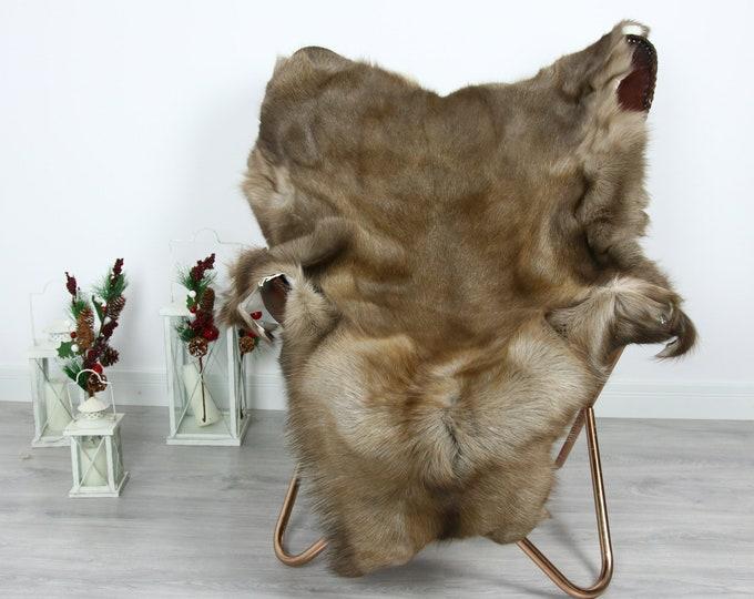 Reindeer Hide | Reindeer Rug | Reindeer Skin | Throw  - Scandinavian Style #GRE20 135x105 | Christmas Decor |