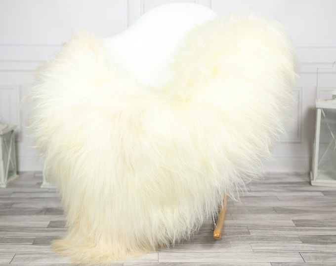 Icelandic Sheepskin | Real Sheepskin Rug | CHRISTMAS DECOR | Sheepskin Rug Beige White | Fur Rug | Homedecor #2ISL4