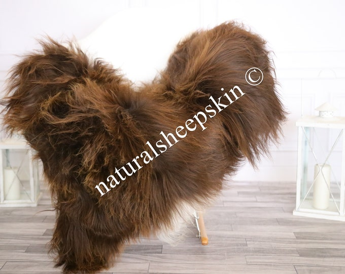 Icelandic Sheepskin | Real Sheepskin Rug | Sheepskin Rug Brown | Fur Rug | Homedecor #MAYISL13