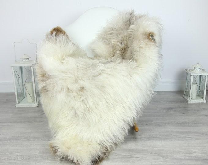 Sheepskin Rug | Huge Real Sheepskin Rug | Shaggy Rug | Chair Cover | XXL Sheepskin Throw | White Brown Sheepskin | Home Decor | #PRYMHER14