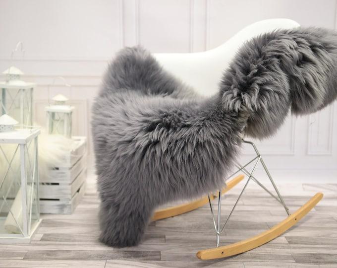Genuine Natural Gray  Sheepskin Rug | Sheepskin throw | Chair Cover |Super Soft Rug| Scandinavian Style | Scandinavian Rug| Gray Sheepskin