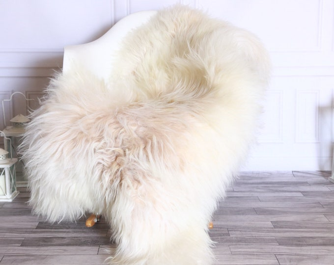 Icelandic Sheepskin | Real Sheepskin Rug | Sheepskin Rug Ivory Beige | Fur Rug | Homedecor #WRZISL17
