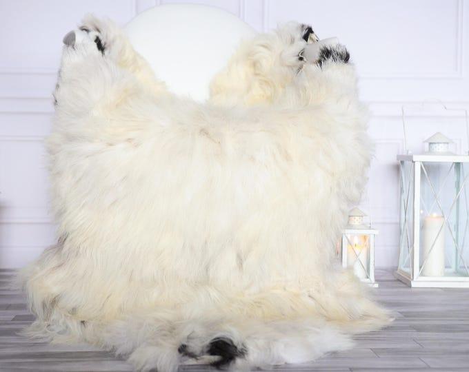 Organic Sheepskin Rug, Real Sheepskin Rug, Gute Sheepskin, Christmas Home Decor, Grey Ivory Sheepskin Rug #OCTGUTE31