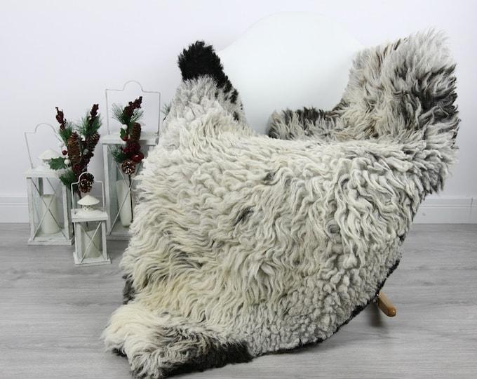 Organic Sheepskin Rug, Real Sheepskin Rug, Curly Sheepskin, Gray Beige Sheepskin Rug Christmas Home #CURLGUT7