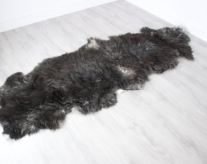 Double XXL Sheepskin Rug | Long rug | Shaggy Rug | Chair Cover | Runner Rug | Carpet | Brown Sheepskin | Sheepskin Rug | BRSEW3