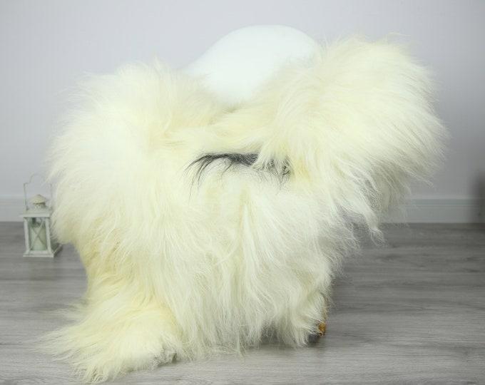 Icelandic Sheepskin   Real Sheepskin Rug   Sheepskin Rug Ivory Black   Fur Rug   Homedecor #3Isl2