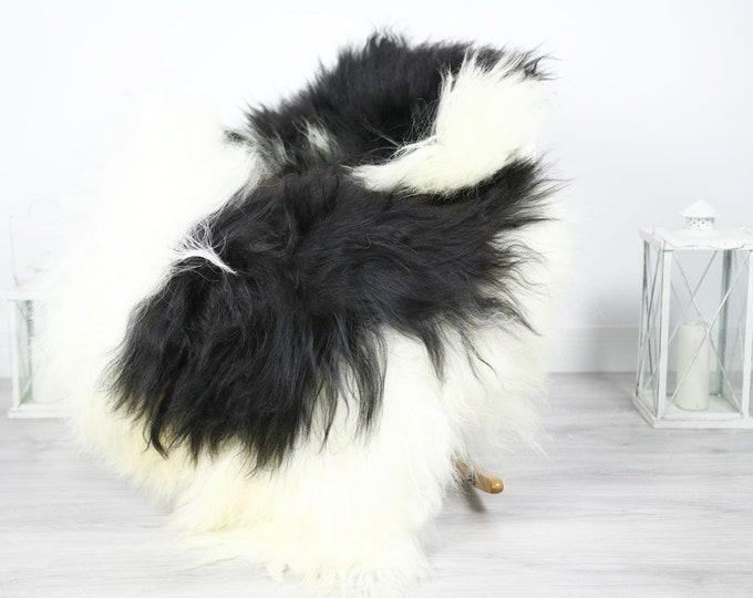 Icelandic Sheepskin   Real Sheepskin Rug   Sheepskin Rug Ivory Black   Fur Rug   Homedecor #3Isl20