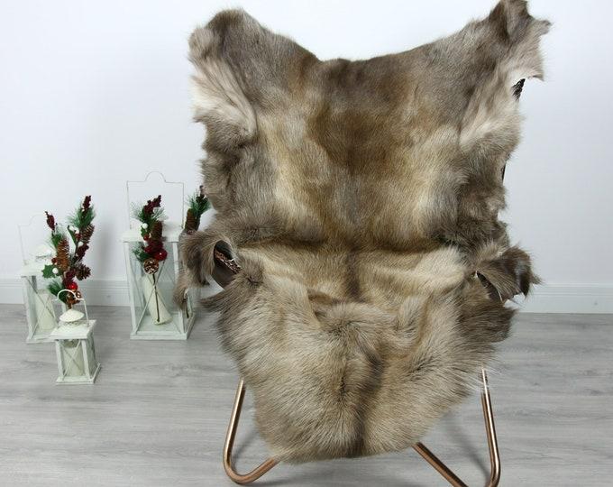Reindeer Hide | Reindeer Rug | Reindeer Skin | Throw  - Scandinavian Style #GRE5 130x100 | Christmas Decor |