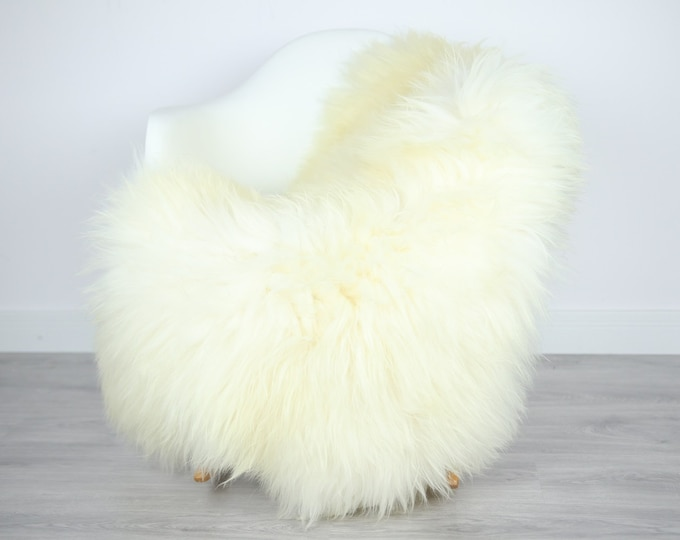 Icelandic Sheepskin | Real Sheepskin Rug | | Large Sheepskin Rug Ivory White | Fur Rug | Homedecor | Sheepskin Throw | Long fur #colisl35