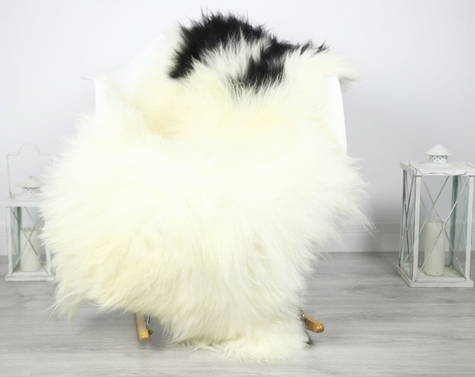 Icelandic Sheepskin   Real Sheepskin Rug   Sheepskin Rug Ivory Black   Fur Rug   Homedecor #3Isl25