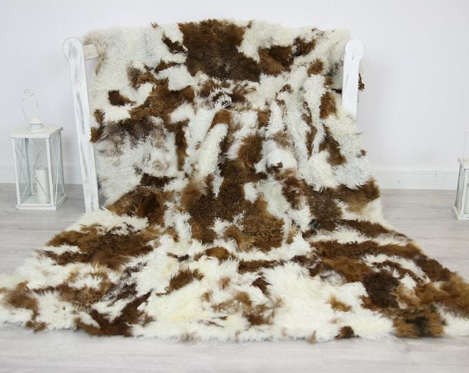Luxurious Toscana Sheepskin Real Fur Throw   Real Fur Blanket   Sheepskin throw   Throw
